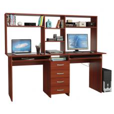 Письменный стол на двоих «Тандем-2П» с надставкой